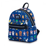 Loungefly Star Wars Baby Character Mini Backpack and Wallet Set (Blue)