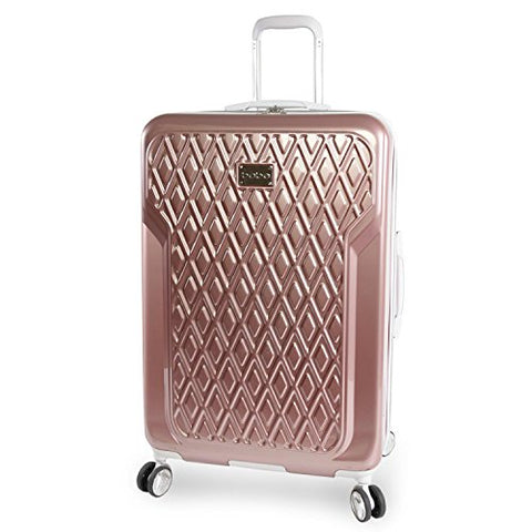 "Bebe Women'S Luggage Stella 29"" Hardside Check In Spinner, Rose Gold"