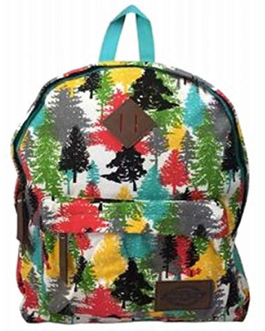 Dickies Cotton Canvas Classic Backpack, Colorful Trees Travel School Pack