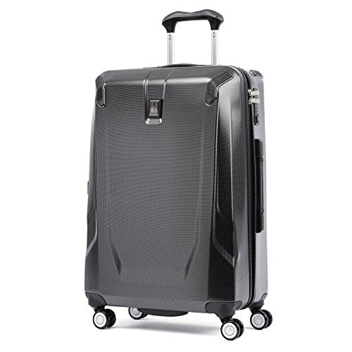 "Travelpro Luggage Crew 11 25"" Polycarbonate Hardside Spinner Suitcase, Carbon Grey"