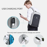 Oscaurt Business Travel Backpack, Laptop Backpack College School Bookbag With Usb Charging Port For