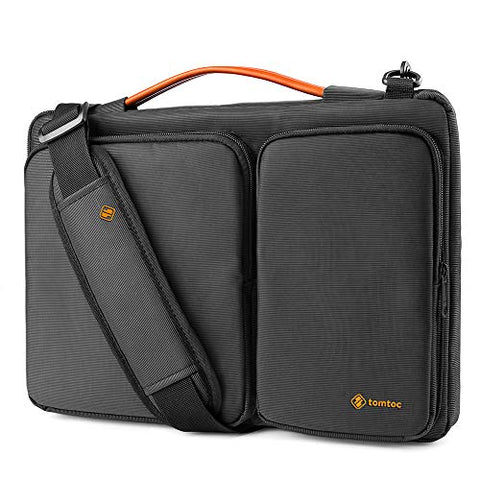 tomtoc 15 Inch Laptop Shoulder Bag with CornerArmor Patent Accessory Pocket, 360° Protective Sleeve
