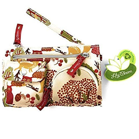 Lily Bloom Forest Owl in The Woods Kim Wristlet | 7.5 X 4.5 IN