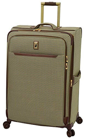 "London Fog Cambridge Ii 29"" Expandable Spinner, Olive Houndstooth"
