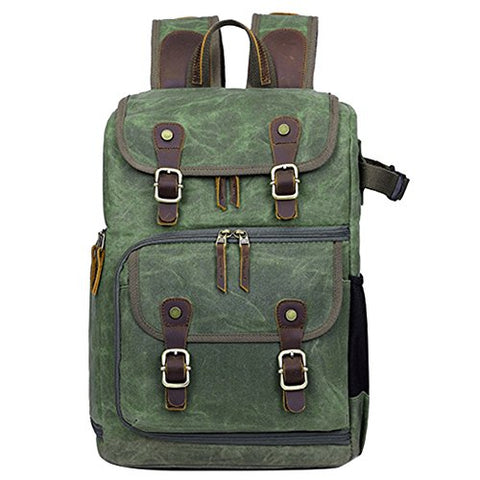 Laptop Backpacks, Berchirly Durable Canvas Waterproof Travel Backpack College Student Hiking