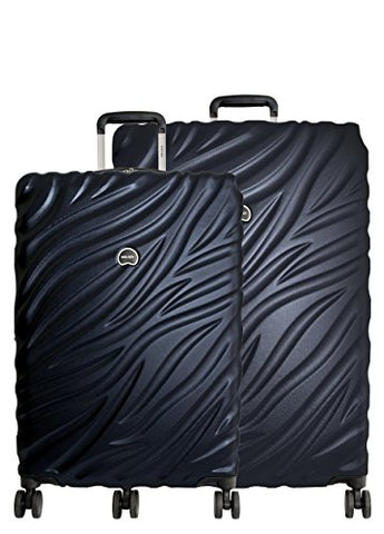 Delsey Paris Alexis 2-PC Set | 25-Inch & 29-Inch Expandable Trolley (Navy Blue)