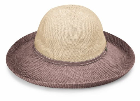 Wallaroo Women'S Victoria Two-Toned Sun Hat - Upf 50+ - Packable (Beige/Mocha)