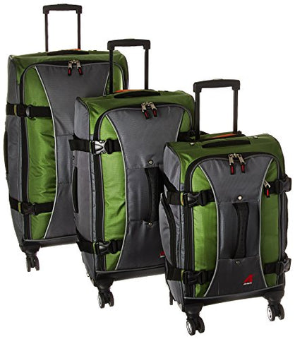 Athalon Hybrid Spinners Luggage 3 Pc Set Grass, Green/Gray