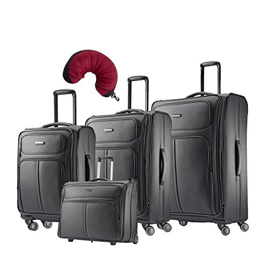 "Samsonite Leverage LTE 5 Piece Carry-On Bundle | 20"", 25"", 29"", Wheeled Garment Bag, Travel Pillow"