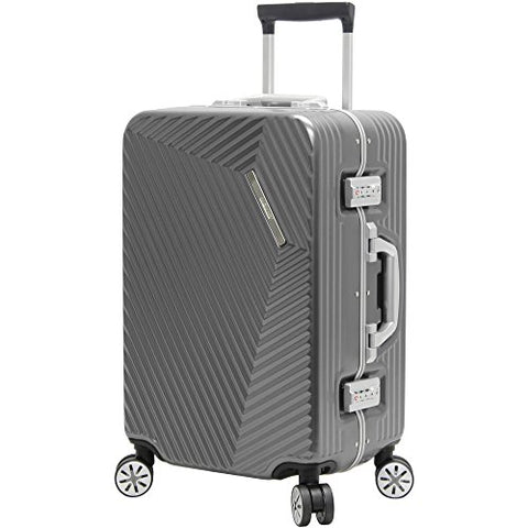 "Andiamo Elegante Aluminum Frame 20"" Carry On Zipperless Luggage With Spinner Wheels (20In, Black"