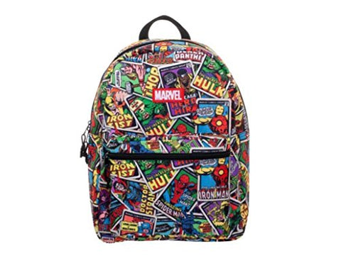 "Marvel Comics Print All-Over 16"" Backpack"