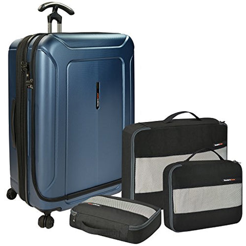 Traveler'S Choice Barcelona 100% Polycarbonate Durable Hardshell Expandable Front Opening Dual