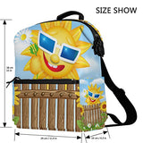 ColourLife Wooden Fence on Grass and Smiling Sun Stylish Casual Shoulder Backpacks Laptop School Bags Travel Multipurpose Daypack for Women Girls Kids