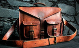 Vintage Crafts Abb 18 Inch Vintage Handmade Leather Messenger Bag For Laptop Briefcase Satchel Bag