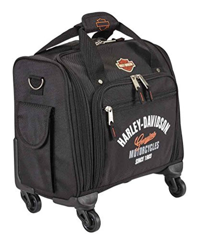 Harley-Davidson 15.5 in. Wheeling Carry-On Plane Case, Black 99818-BLACK