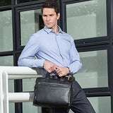 Bison Denim Genuine Leather Briefcase Messenger Bag Shoulder Cross-Body Bag Laptop Business Bag For