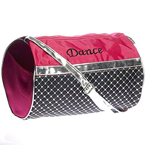 Girl'S Quilted Nylon Dance Duffle Bag W/ Sequins