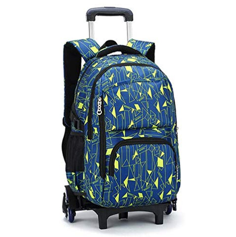 YEXIN Rolling Backpack 18 Inch for School Travel with Rain Cover,Blue Galaxy Color : Style E
