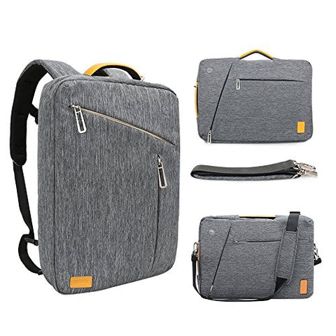17.3 Inch Convertible Laptop Backpack - Wiwu Multi Functional Travel Rucksack Water Resistant