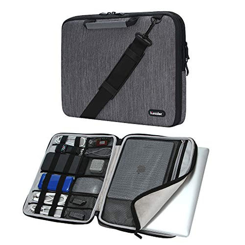 iCozzier 13-13.3 Inch Handle Laptop Briefcase Shoulder Bag Electronic Accessories Organizer