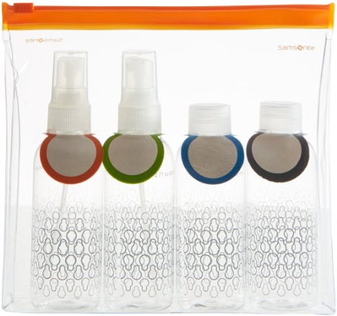 Samsonite Carry-On Travel Toiletry Bottle Set - Clear