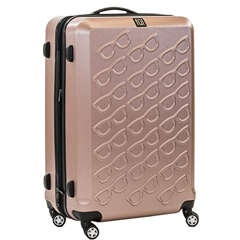 Ful Sunglasses 29in Spinner Rolling Luggage Suitcase Suitcase, Gold