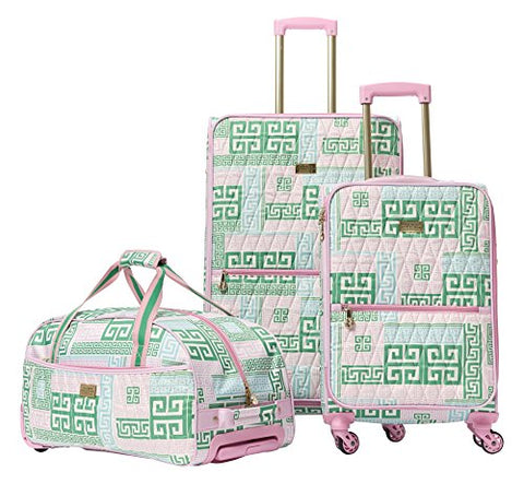 Macbeth Women'S Prepset 3 Piece Luggage Set Pink, Green