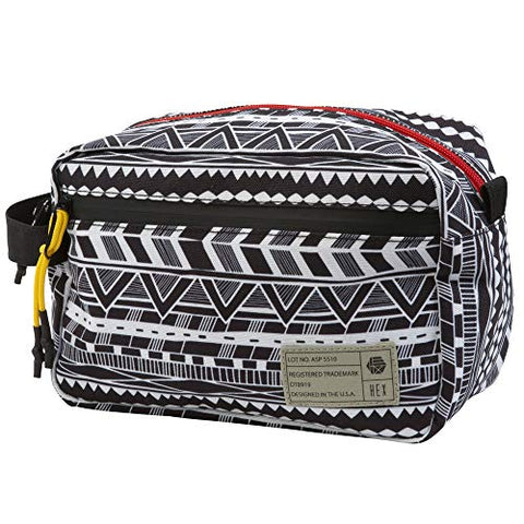 Hex Dopp Kit Travel Toiletry Bag, Global Stripe (GBSP), One Size