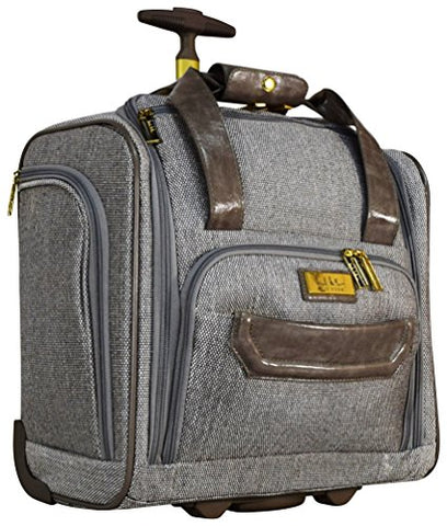 Nicole Miller Jardin Wheeled Under Seat Carry On (Gray)