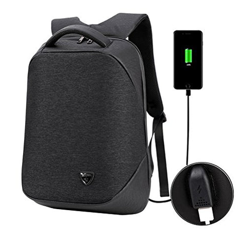 Samaz Laptop Backpack With Usb Charging Port Business Travel Backpack Shoulder College School Bag
