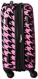 Chariot Houndstooth 20-Inch Hardside Lightweight Expandable Carry, Fuchsia