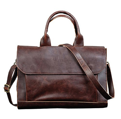 Men Bags, Berchirly PU Faux Leather Office Briefcase Handbag Cross Body Tote Bag