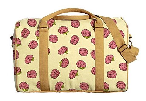 Brain Pattern Printed Canvas Duffle Luggage Travel Bag Was_42