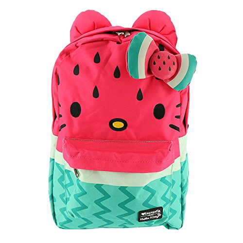 Loungefly Hello Kitty Watermelon Bow Backpack Pink-Green