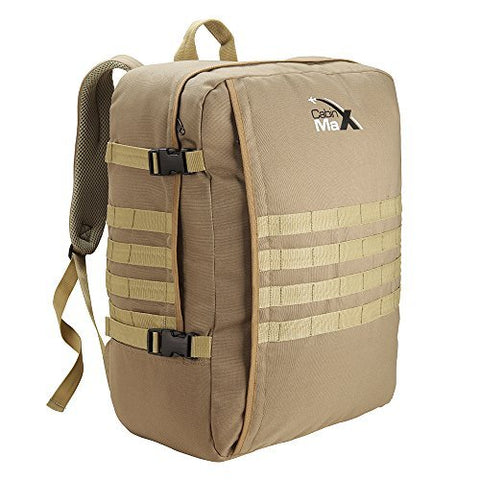"MOLLE Cabin Backpack - 44L Tactical Military Hand Luggage 22"" x 16"" x 8.5"" (Khaki)"