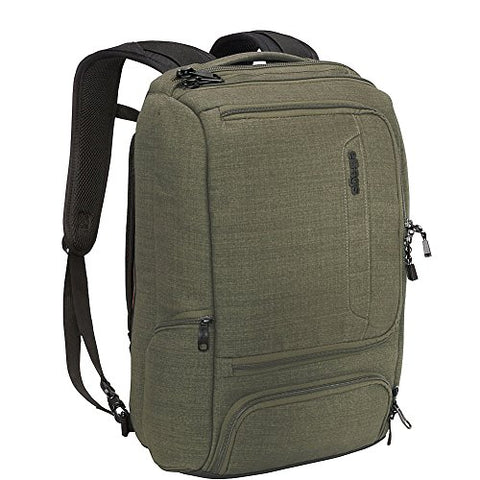 "eBags Professional Slim Laptop Backpack for Travel, School & Business - Fits 17"" Laptop - Anti-Theft - (Sage Green)"