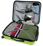 "Traveler'S Choice Freedom 3-Piece Lightweight Luggage Set, Apple Green (20""/25""/29"")"