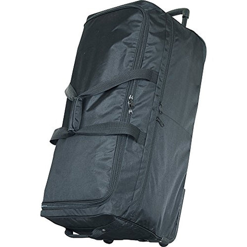 "Netpack 40"" Ultra Simple Wheeled Duffel (Black)"