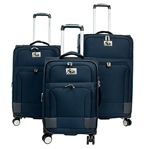 CHARIOT CH-591 Naples Blue 3 Piece Luggage Set