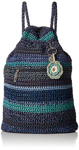 The Sak Amberly Crochet Backpack, neptune stripe