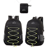 Foldable Lightweight Backpack Daypack Water Resistant Zippers for Outdoor Traveling Hiking Active
