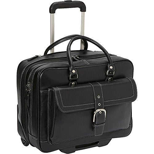 Heritage Soho Leather Mobile Office (Black)