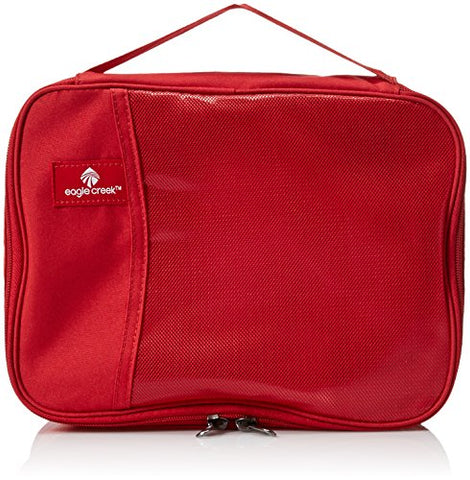 Eagle Creek Travel Gear Luggage Pack-it Clean Dirty Half Cube, Red Fire