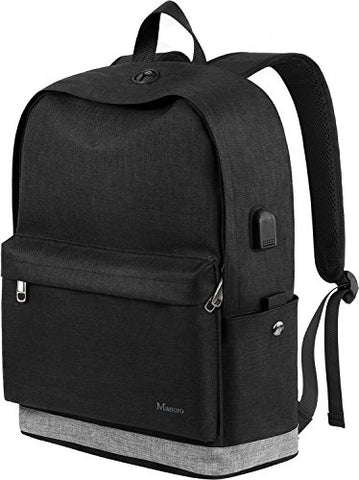 School Backpack, Water Resistant College Student Laptop Backpack For Women Girl Men Boy, Canvas