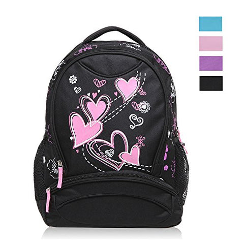 Hynes Eagle Sweetheart Pattern Kids Backpack Black