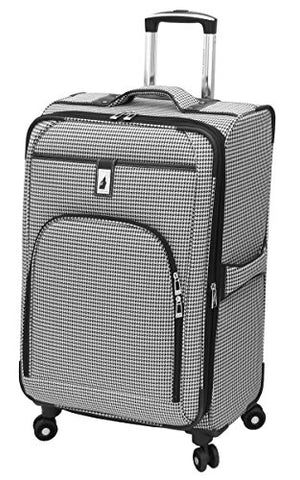 London Fog Cambridge 25 Inch Expandable, Black/White