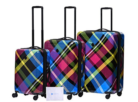 "Body Glove Crisscross 4-Piece Hardside Spinner Set (22"",26"" 29"",311 Bag), Multi"
