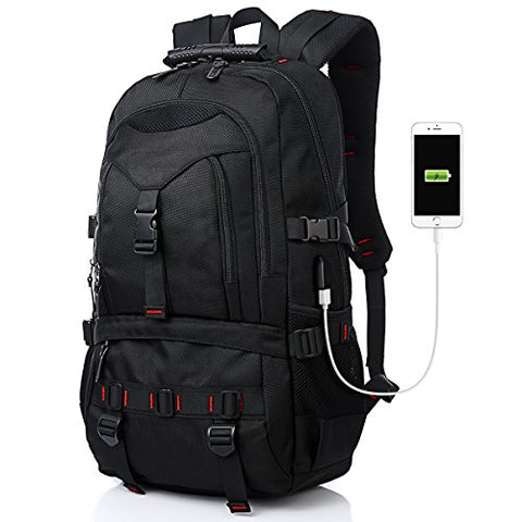 Fashion Laptop Backpack Contains Multi-Function Pockets, Tocode Durable Travel Backpack with USB