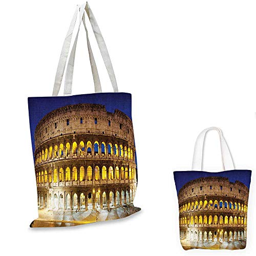 The Colosseum canvas messenger bag Hostoric mperial Roman Architecture European Culture Symbol.
