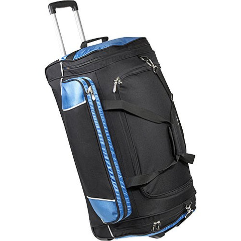 "Bellino 30"" Rolling Duffel, Black and Blue, One Size"